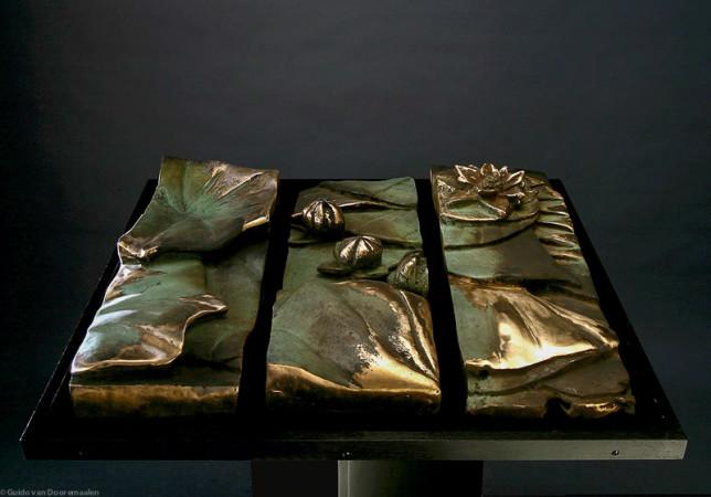 Relief, 70x70x15- Brons